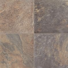 """<span style=""""font-size: 8pt;"""">  <p><span style=""""font-size: 8pt;"""">A beautiful variation of color, Dakota is a stunning 16"""" X 16"""" slate design. The realism found in natural slate is on display in this tile. And the inherent ability of slate patterns to blend with any home interior makes this floor a perfect choice that will suit any room.</span></p>  </span>"""