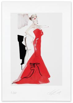 David Downton, Valentino, 2008. Limited Edition FIG Print. Signed and numbered by the artist. Price subject to currency exchange rate at the time of ordering. $500.00.