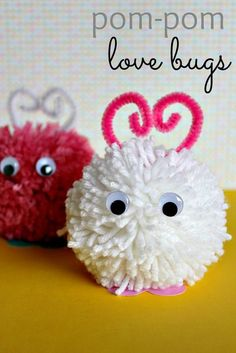 How to make pom pom love bugs