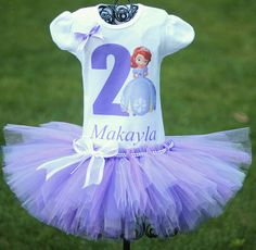 Princess Sofia Birthday Outfit, FAST SHIPPING, Birthday Outfit, Princess Sofia Tutu, Purple Tutu
