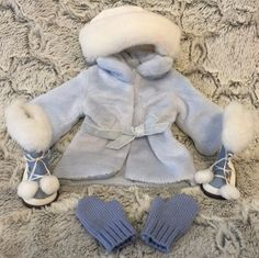 American Girl Doll Winter Light Blue Snow Flurry Outfit clothes pants missing! #AmericanGirl