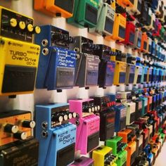 Every BOSS #guitar compact pedal ever made at the Roland and BOSS booth at #NAMM.