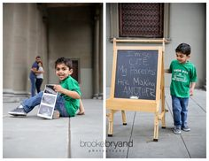 What a cute way to announce their second pregnancy!  Brooke Bryand Photography | Pregnancy Announcement | Golden Gate Park | Family photos | Toddler | Second baby | Creative | Cute idea |
