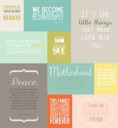 Favorite Quotes Project Life Mini Album + Printables. Just Gorgeous! from @Christina Childress Childress Childress & {simple as that}