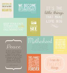 simple as that: Favorite Quotes Mini Album + Printables