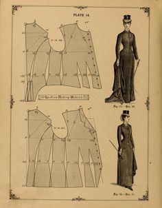 Victorian Ladies Riding Habits Pattern. The cutters' practical guide to the cutting of ladies' garments. 1890.