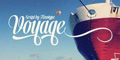 Typography  Font of the day: Voyage