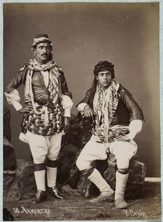 Armenians and Armenian Photographers in the Ottoman Empire. J. Pascal Sebah (Armenian, 1823-1886), Armenian Men, ca. 1875. Los Angeles, Getty Research Institute (96.R.14, Box 77).