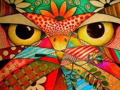 Owl face, a little different (374 pieces)