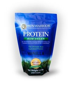 Sunwarrior Protein - this stuff actually tastes good. Low carb, high protein, gluten free, raw. Awesome.