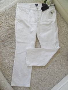 BNWT NOT YOUR DAUGHTERS JEANS SKINNY WHITE 14P ~NYDJ LIFTTUCK WAIST 34 ~$118 #NotYourDaughtersJeans #STRAIGHTLEG