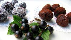 Blackcurrant chocolate balls - Mustaherukka-suklaapallerot Kotikokki.netin nimimerkki Naijan reseptillä