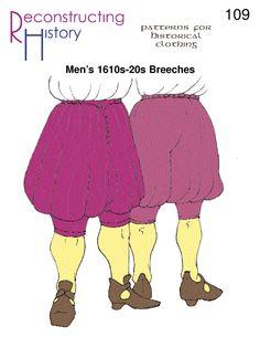 1620s Breeches pattern | Cavalier Breeches | Musketeer Breeches