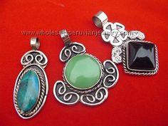Semi-Precious Stone Pendantshttp://www.wholesaleperuvianjewelry.com