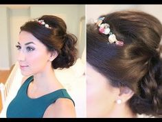 christmas party hairstyles | party hairstyle, holiday updo, holiday hairstyle, ... | Luxy Hairstyl ...