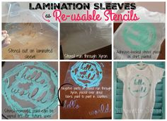 DIY Reusable Stencils with Silhouette (The I-Bet-You-Didn't-Think-Of-That Technique)