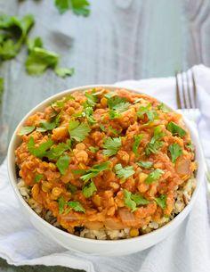 Slow Cooker Lentil Cauliflower Curry