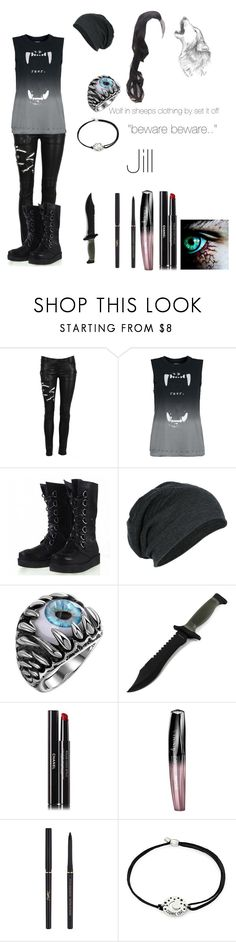 """creepypasta oc : Jill"" by mountaindewqueen15 ❤ liked on Polyvore featuring Balmain, Chanel, Rimmel, Yves Saint Laurent and Alex and Ani"