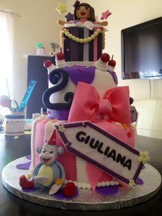 Dora birthday cake, caked by two Miami