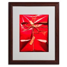Red Wrap by Roderick Stevens Matted Framed Painting Print