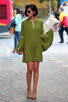 avocado green mini dress