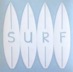 Surfboard Decal SURF by MadeyGear on Etsy, $3.50
