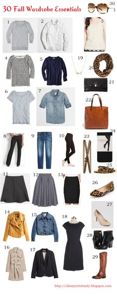 Trendy Wednesday Link-Up 30 Fall Wardrobe Essentials - Classy Yet Trendy Fall Wardrobe Essentials, Fall Capsule Wardrobe, How To Have Style, My Style, Classy Outfits, Fall Outfits, Basic Outfits, Classy Yet Trendy, Classic White Shirt