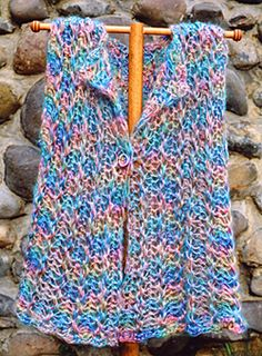 Hairpin lace vest crochet pattern from Oat Couture #PH609