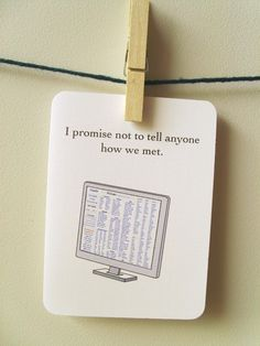 Items Similar To I Promise Not Tell Anyone How We Met Funny Love Card Craigslist On Etsy