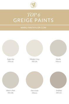 Gray or Brown in Decor? Choosing your neutral - Marilynn Taylor BnB & DIY Design Educator Light Grey Paint Colors, Best Gray Paint Color, Best Neutral Paint Colors, Paint Colors For Home, House Colors, Grey Beige Paint, Paint Colours, Wall Colors, Light Grey Walls
