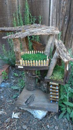 Fairie Tree House Fairy Tree House by castlesanddreams on Etsy, $75.00