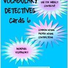 Vocabulary Detective Task Cards $3.75
