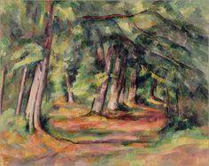 Sous-bois Bilder: Poster von Paul Cézanne bei Posterlounge.de