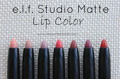 Shawntel Hollier - e.l.f. Studio Matte Lip Color Review and Lip Swatches