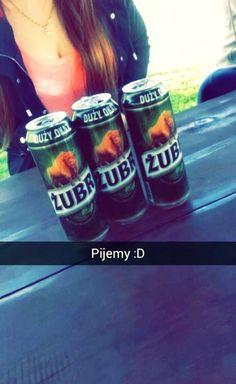 we drink ;D #drink #żubr #polish #beer