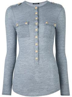 BALMAIN Long Sleeved Top. #balmain #cloth #top