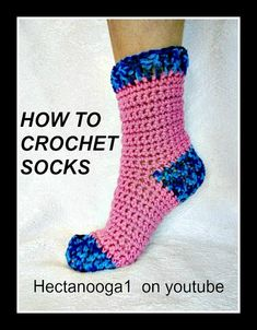 HOW TO CROCHET SOCKS, Demo for 6 - 10 yrs, Pattern # 1064, Video #1311, ...