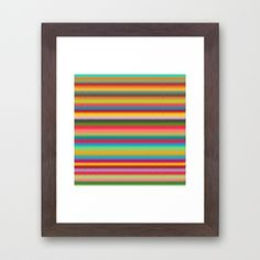 Colorful Stripes Abstract Framed Art Print