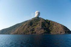 The island of Komba with active Batu Tara volcano (Indonesia, Nov 2015) (Photo: Fady Kamar) | pinned by haw-creek.com