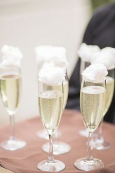 Prosecco and candy floss The Knot