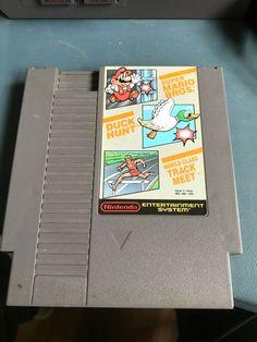 Vintage Nintendo NES Super Mario Bros / Duck Hunt / Track Meet Game