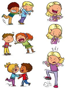 Illustrations for english learning project focused on pre-primary students. Kindergarten Classroom Rules, Preschool Rules, Preschool Worksheets, Preschool Activities, Children's Rights And Responsibilities, Stop Bullying Posters, Emotions Preschool, English Activities For Kids, Angry Child