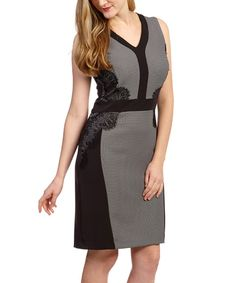 Look at this Black Lace-Panel Sleeveless Dress - Women on #zulily today!