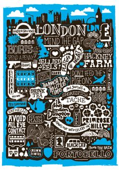 London Typography Illustration