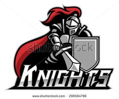 knight mascot with shield