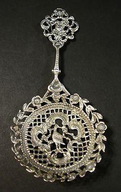 Amazing hand-made sterling silver bon-bon spoon - Tiffany, London, 1891.