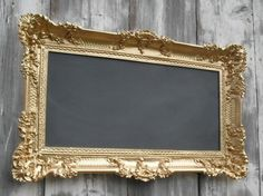 Make a chalk board from an antique Frame