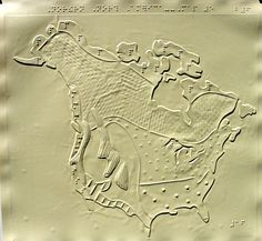 Braille map of North America climate zones Braille, Map Layout, North America Map, Information Processing, Visual Learning, Visual Communication, Planer, Blinds, Lion Sculpture