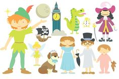 Peter Pan Clipart by Julia_Sunrain on @creativemarket