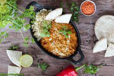 Vöröslencse curry - GreenChili-Vegan Blog Vegan Blogs, Chana Masala, Curry, Ethnic Recipes, Food, Curries, Essen, Meals, Yemek